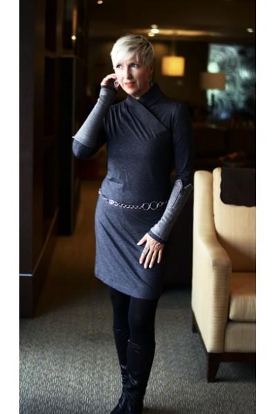 Alicia Charcoal Dress